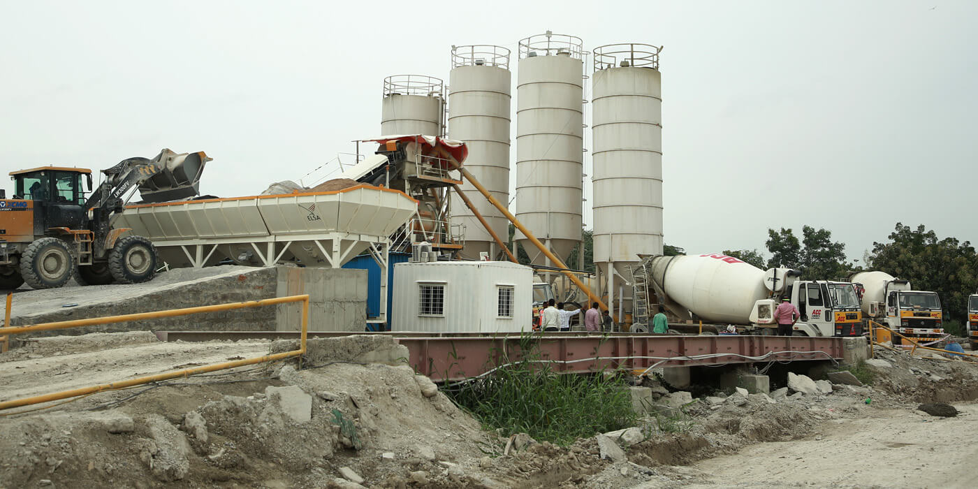 Concrete supply to various constructions
